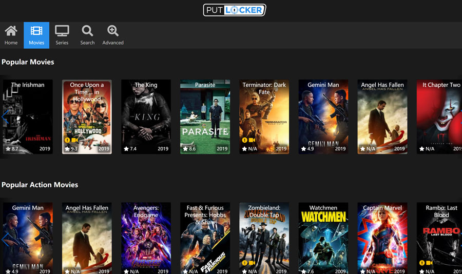 Top 12 Best Alternatives To Putlocker