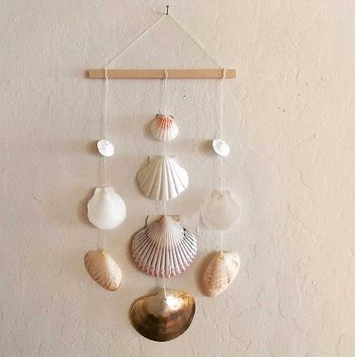 Wall Hanging Seashell Decor