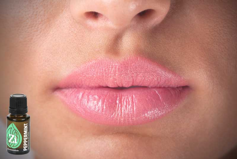 Peppermint oil for lips